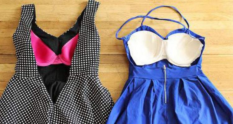 costurar sutiã dentro do vestido