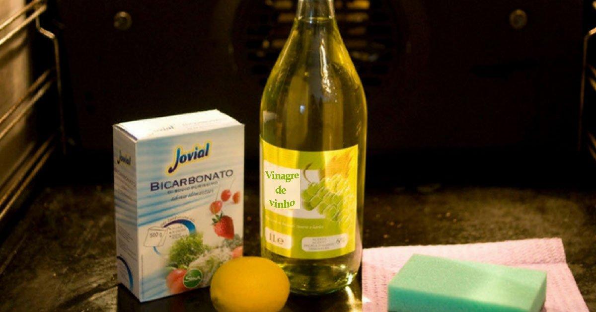 bicarbonato, sal e limão