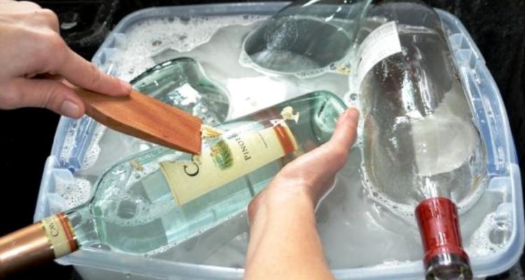 Limpar garrafas