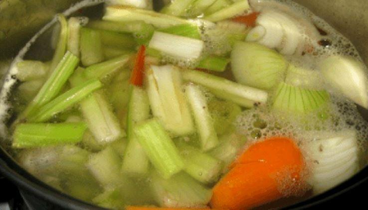 água de cozimento dos legumes
