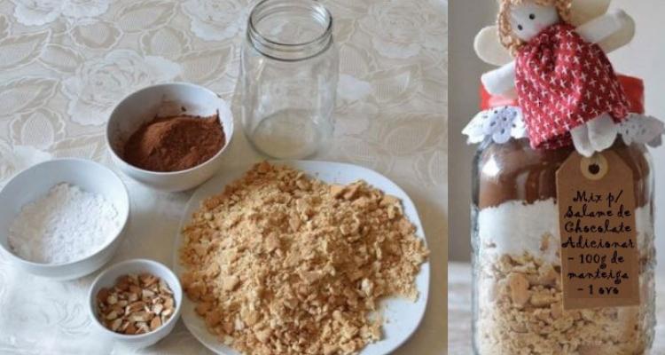mistura para bolo no pote
