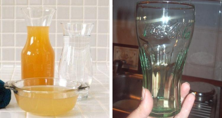 Limpar copos com vinagre