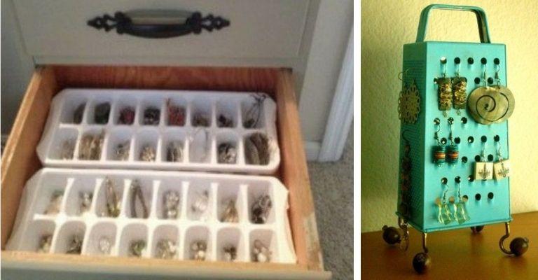 bijuterias dentro de forminhas de gelo