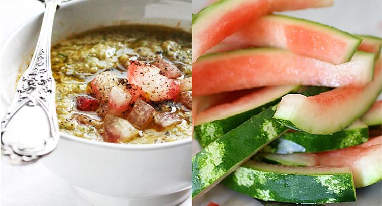 sopa de casca de melancia