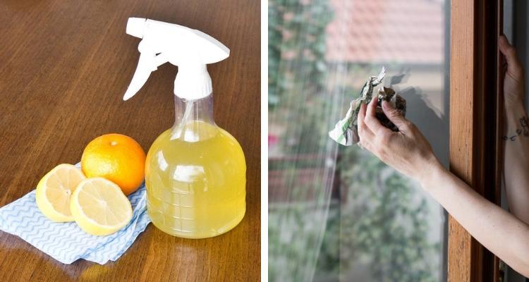 Vinagre e suco de limão para limpar vidros